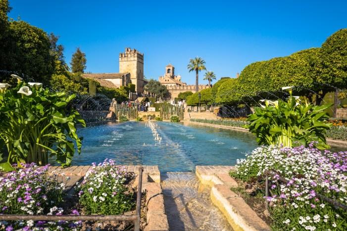 Cordoba Spain-March 11 2015: The famous Alcazar with beautiful garden in Cordoba Spain