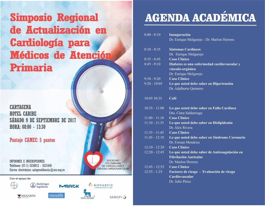 Simposio Regional de Actualización en Cardiología para Médicos de Atención Primaria - Cartagena