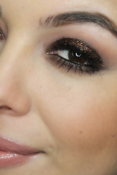 Chocolate Glitter Glam Makeup Tutorial