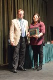 Twenty-year award winner, Frances Brown, with Vice President of Academic Affairs, Dr. Todd Carter.