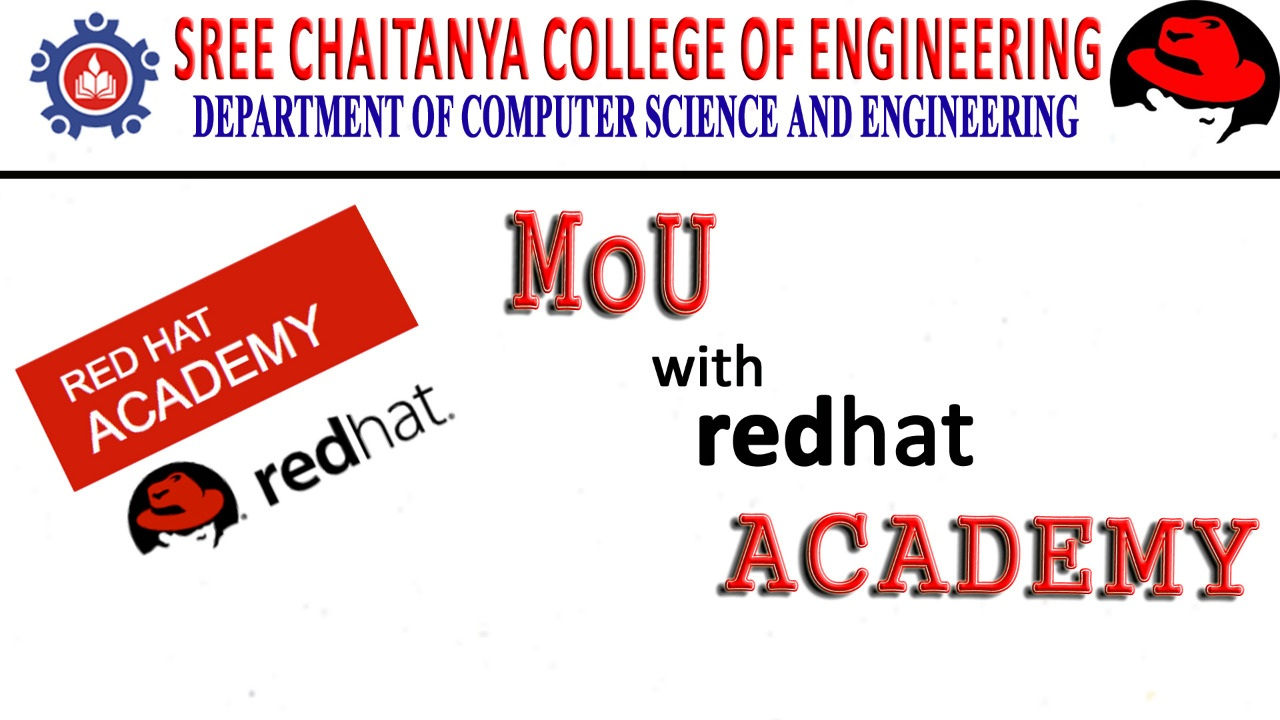 Cse Dept Is Going To Have Mou With Redhat Academy