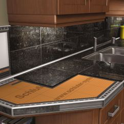 Kitchen Tile Countertops Travel Trailers With Outdoor Kitchens Schluter