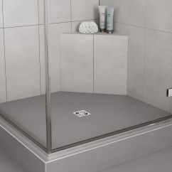 Shower Chair Vs Tub Bench Desk Sinking With Linear Drain Schluter