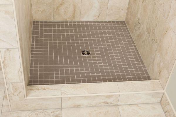 Bathroom Tile Shower Curb