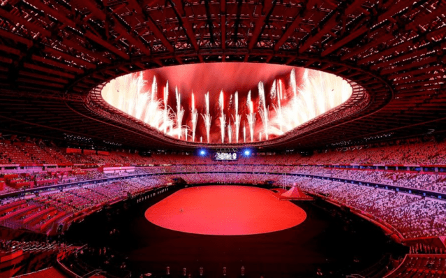 """日本東京奧運會正式開幕 奧運主題""""前進""""""""情同與共"""""""