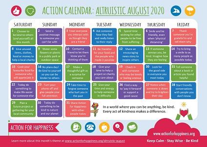Action Calendar: August 2020