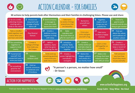 Action for Happiness October Calendar