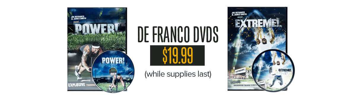Joe DeFranco DVDs just $19.99