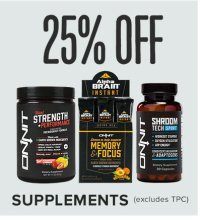 Save 25% on Supplements