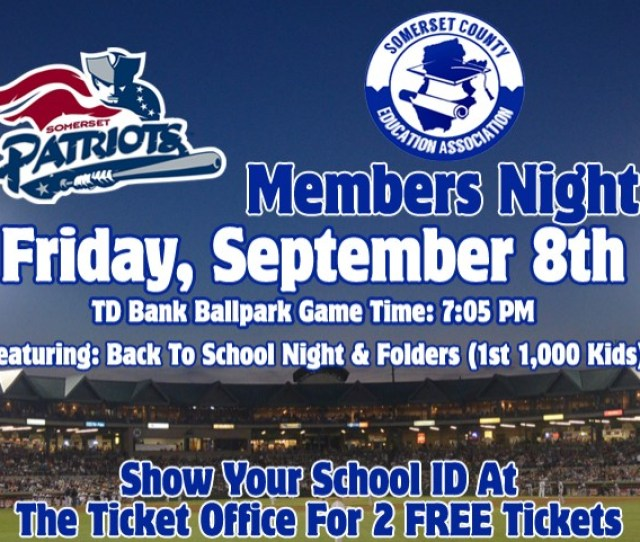 Somerset Patriots And Scea Back To School Night