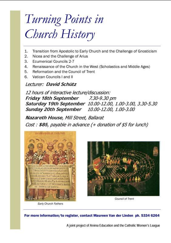 Church History for Ballarat