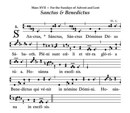 Mass XVII - Sanctus 2