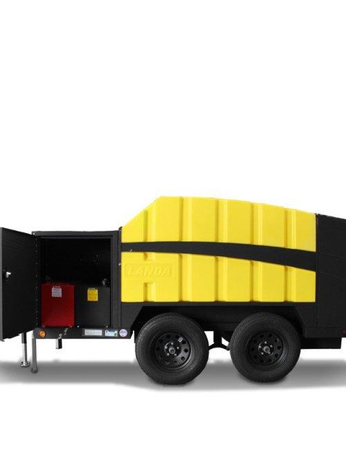 Landa ECOS pressure washer trailer side view