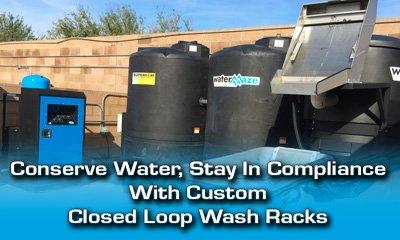 Custom Closed Loop Wash Rack Banner