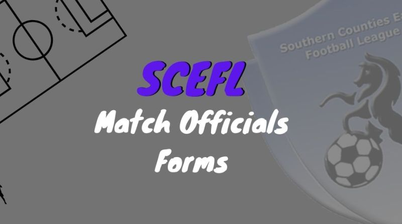 SCEFL Match Officials Form