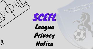 SCEFL league privacy notice