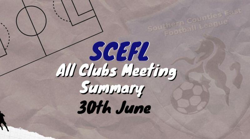 SCEFL All Clubs meeting 1