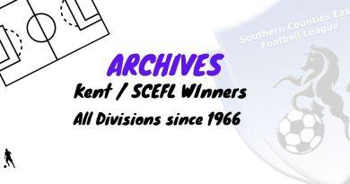 scefl kent league winners