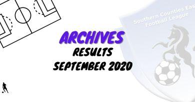scefl rESULTS SEPTEMBER 2020