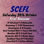24th October – First Division