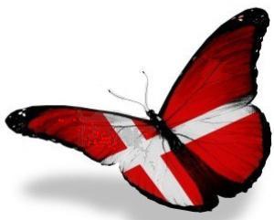 bandiera danese farfalla