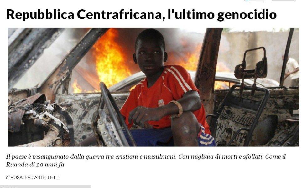 REPUBBLICA CENTRO AFRICANA L'ULTIMO GENOCIDIO