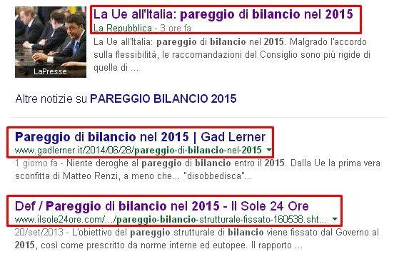 PAREGGIO DI BILANCIO