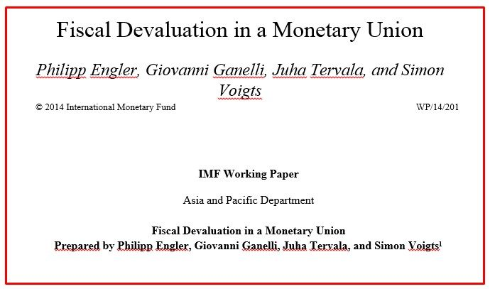 FMI SU FISCAL DEVALUATION
