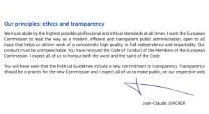 Letterina di Juncker a Pierre Moscovici