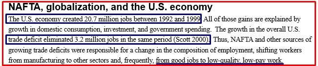 US EFFECT OF NAFTA