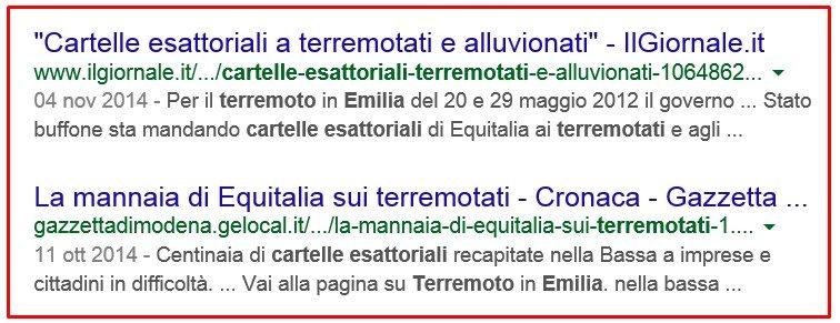 CARTELLE ESATTORIALI TERREMOTATI