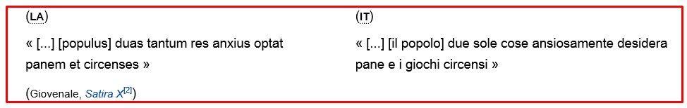 PANEM E CIRCENSES 3