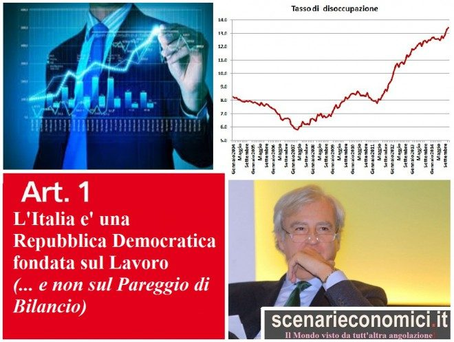 L'OBIETTIVO PRIMARIO DEVE ESSERE IL PERSEGUIMENTO DELLA MASSIMA OCCUPAZIONE! (Appello di Antonio Maria Rinaldi)