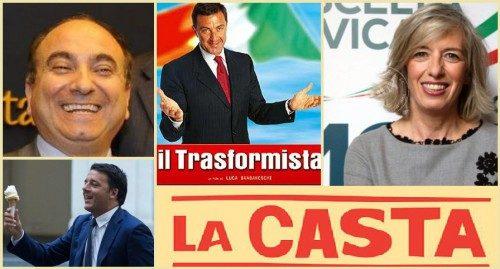 """Il vergognoso """"Zapping"""" dei parlamentari buffoni che si vendono al miglior offerente (di Antonio Maria Rinaldi)"""