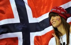norvegese con bandiera