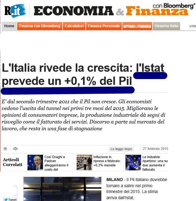 ISTAT CRESCITA