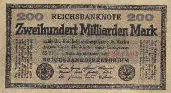 La banconota da 200 miliardi (di marchi)