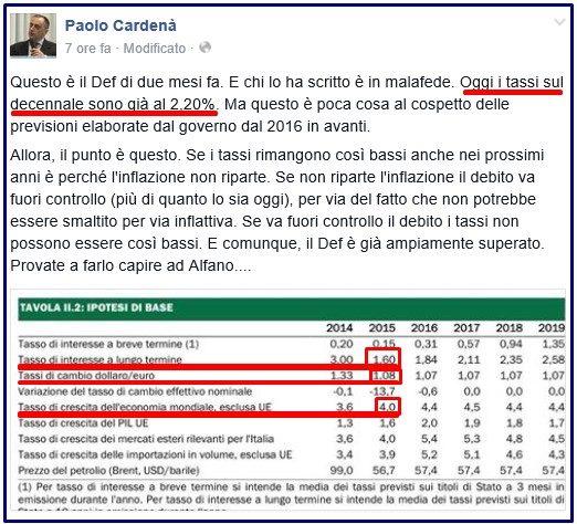 ALITALIA VOLA COME ITALIA parametri del def