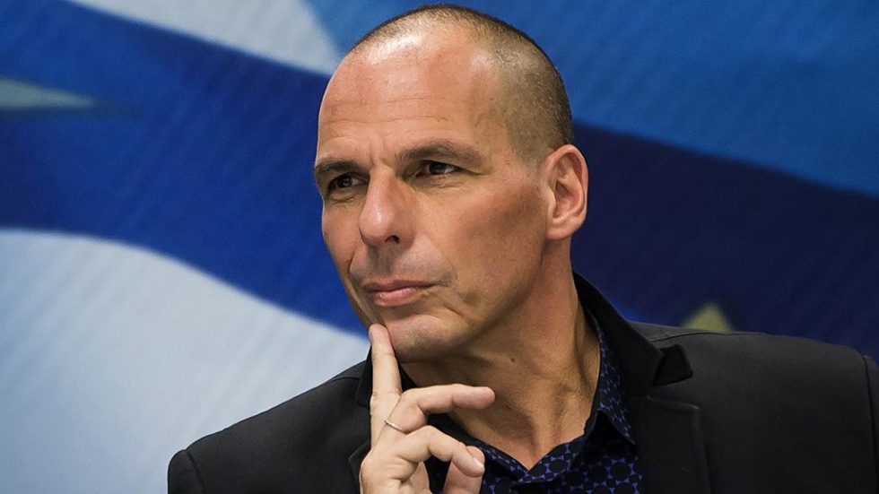 "Newly appointed Greek Finance Minister Yanis Varoufakis attends a hand over ceremony in Athens, January 28, 2015. Greece's finance minister on Wednesday said he plans to meet European counterparts to find a deal between the country and its creditors to replace the current bailout programme, stressing that one could be found without a ""duel"" with Europe. REUTERS/Marko Djurica (GREECE - Tags: POLITICS BUSINESS) - RTR4NAUV"