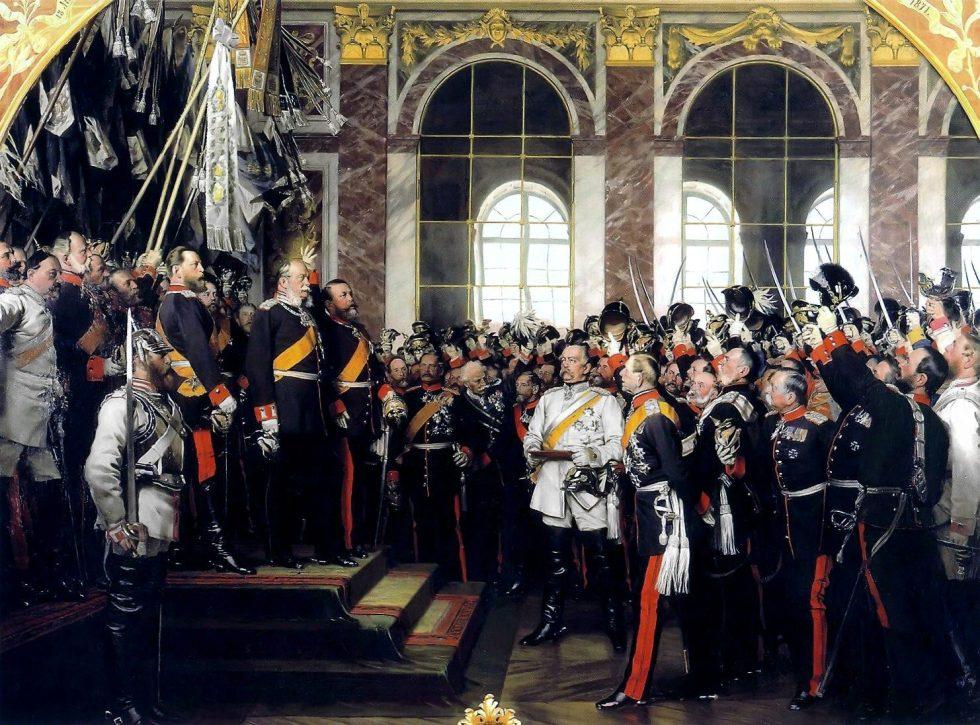 Incornonazione Imperatore Guglielmo a Versailles.