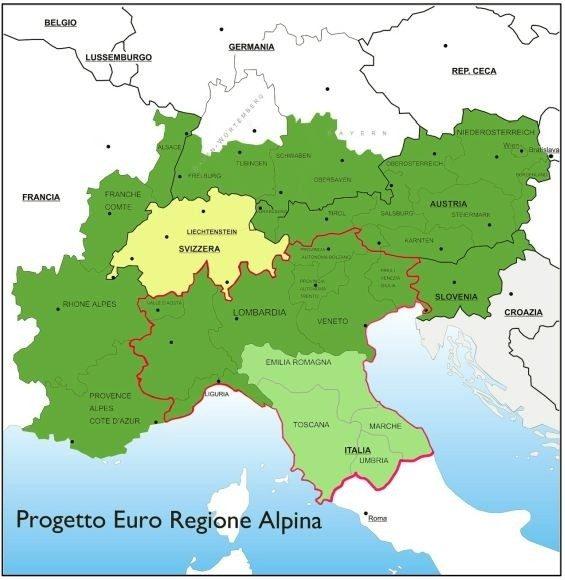 Macroregione Alpina, ma a cosa serve? Indirettamente si vogliono destrutturare gli Stati! di Felice di Maro
