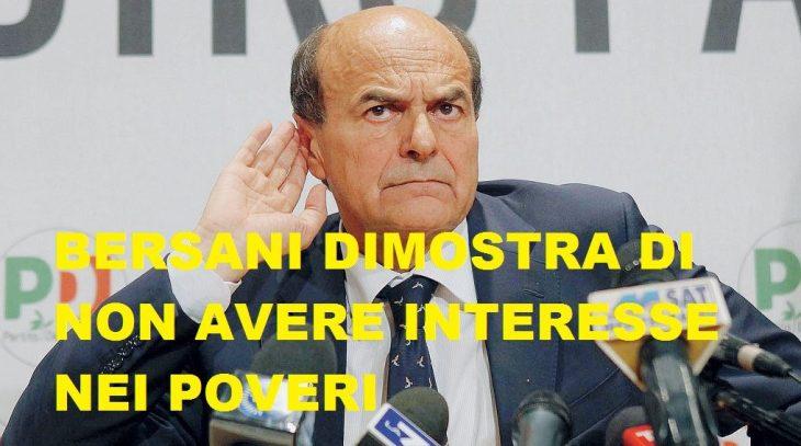 Bersani e quell'imbarazzante analfabetismo costituzionale.