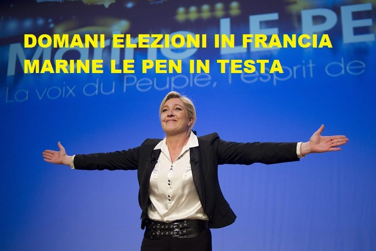 (FILE) A file picture dated 12 February 2012 of Marine Le Pen, leader of French far-right political party National Front (FN) arrive on stage to deliver a speech during a meeting at the Palais des Congres, in Strasbourg, France.ANSA/YOAN VALAT