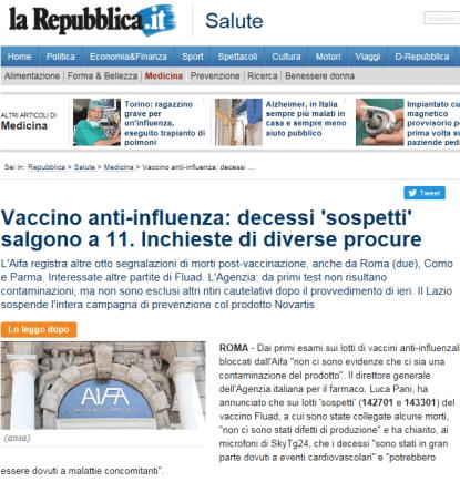28.11.2014 Repubblica vacc killer