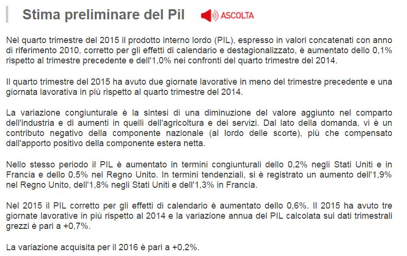 PIL Istat