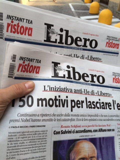 50 volte NO all'Unione Europea e all'euro di Paolo Becchi e Fabio Dragoni