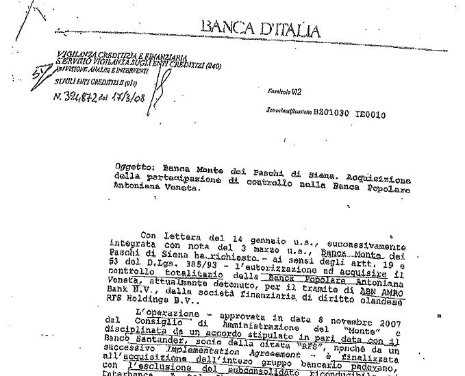 MPS 2 : RIMANDATA LA DECISIONE SULLA BANCA D'ITALIA  La causa dell'avvocato Paolo Emilio Falaschi