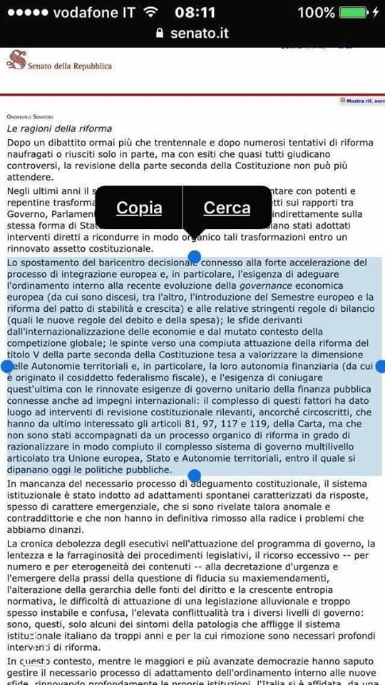 Riforma Costituzionale: CLAMOROSO! Il DOCUMENTO UFFICIALE che INCHIODA il Governo sulla costituzionalizzazione del VINCOLO ESTERNO UE (di Giuseppe PALMA)