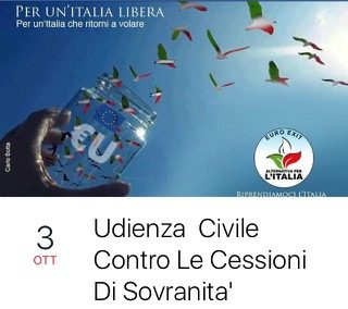 Riprendiamoci le chiavi di casa! Domani a Genova diciamo tutti insieme no alle cessioni di sovranità.