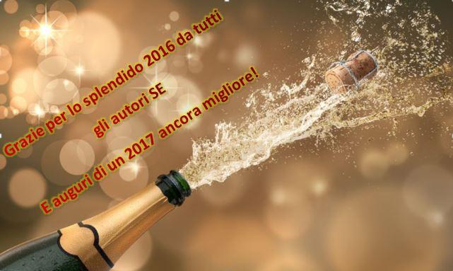 GRAZIE PER UN ENTUSIASMANTE 2016 VISSUTO CON VOI, E AUGURI PER UN 2017 ANCORA MIGLIORE!